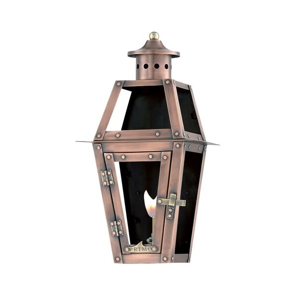 "Primo Lanterns OL-15FG Orleans 10"" Wide Outdoor Wall-Mounted Lantern Natural Gas Configuration - Copper - n/a"