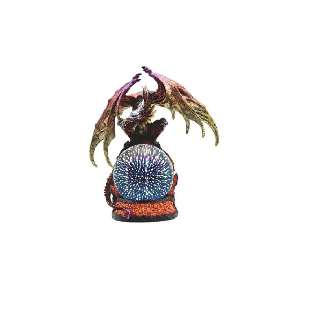Q Max 12 5 H Led Red Dragon With Golden Wings Optic Globe Statue Fantasy Decoration Figurine On Sale Overstock 32409435