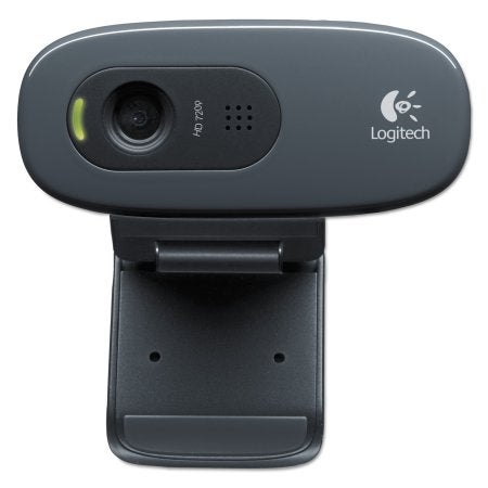 Logitech 960-000694 C270 Computer Webcam With Microphone, Hd 720P