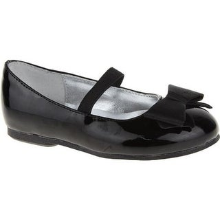 Nina Girls' Pegasus-T Black Patent/Satin