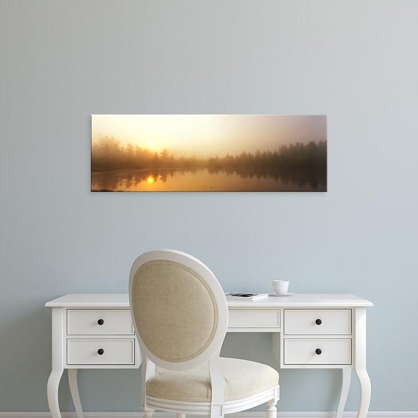 Easy Art Prints Panoramic Images's 'Misty Morning, Volvo Bog, Illinois, USA' Premium Canvas Art