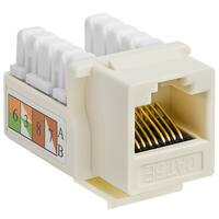 Cat5e Punch Down Keystone Jack - Beige
