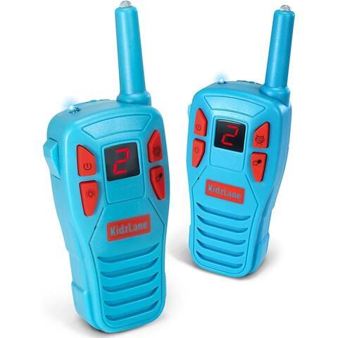 Kidzlane Voice Changing Walkie Talkies for Kids - 2 Mile Range, 8 Channels, Flashlight, & Call Alert