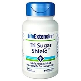 Life Extension Tri Sugar Shield Vegetarian Capsules, 60 Count