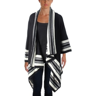 Lauren Ralph Lauren Womens Draped 3/4 Sleeve Cardigan Sweater