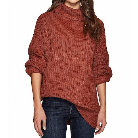 d04c25e2f83 Free People Brown Womens Size Medium M Knitted Turtleneck Sweater