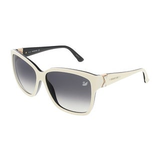 Swarovski SK0057/S 25B Shiny Ivory/Black Square sunglasses - shiny ivory/black - 60-13-135