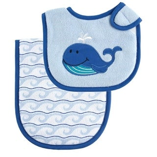 Luvable Friends Character Printed Bib and Burp Cloth Set - Pink