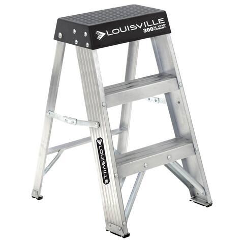 Louisville Ladder AS3002 Type IA Lightweight Aluminum Step Ladder, 2', 300 Lb