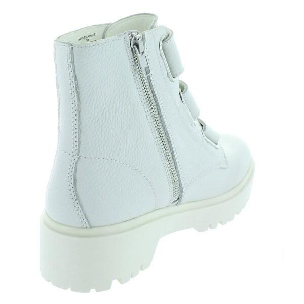 steve madden wayne boots white