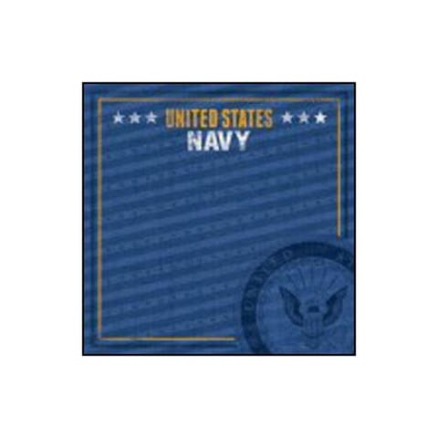 P-0713e paper house paper 12x12 navy emblem