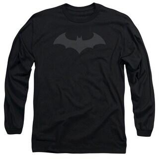 Batman Hush Logo Mens Long Sleeve Shirt