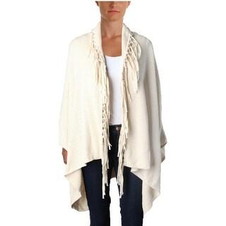 Lauren Ralph Lauren Womens Cardigan Sweater Fringe Open Front