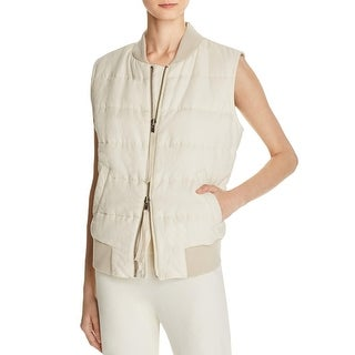 Vince Womens Outerwear Vest Quilted Zip Front - m