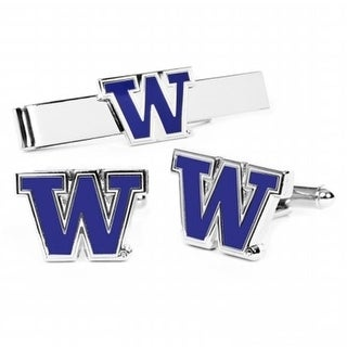 Gift Set PD WA CT University Of Washington Cufflinks And Tie Bar Gift Set