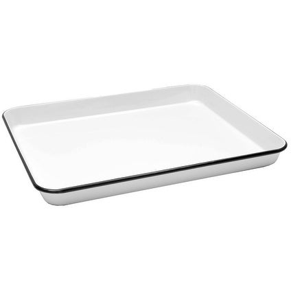 Crow Canyon Home Enamelware Vintage Style Rectangular Tray or Jelly Roll Pan