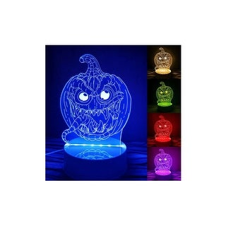 3D Illusion Halloween Pumpkin Lamp Acrylic LED Night Light Micro USB Table Desk Lamp