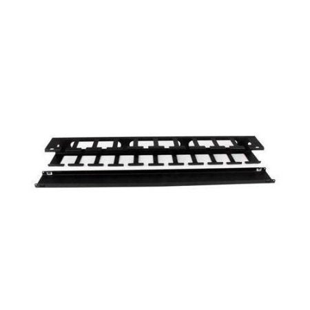 Startech Cmduct1ux Horizontal Finger Duct Rack Cable Management Panel W/Cover