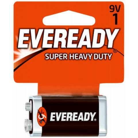 Eveready 1222SW Super Heavy Duty Battery, 9 Volt