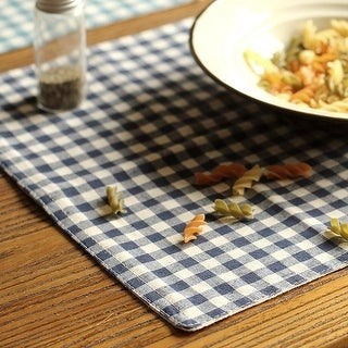 RusticReach Cotton Table Placemat Check Pattern Set of 4