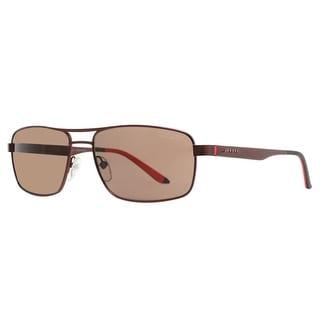 CARRERA Rectangular 8011/S Unisex GJI/SP Matte Dark Brown Polarized Brown Sunglasses - 58mm-16mm-140mm