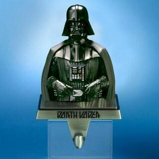 "6"" Star Wars Gun Metal Black Darth Vader Christmas Stocking Holder"