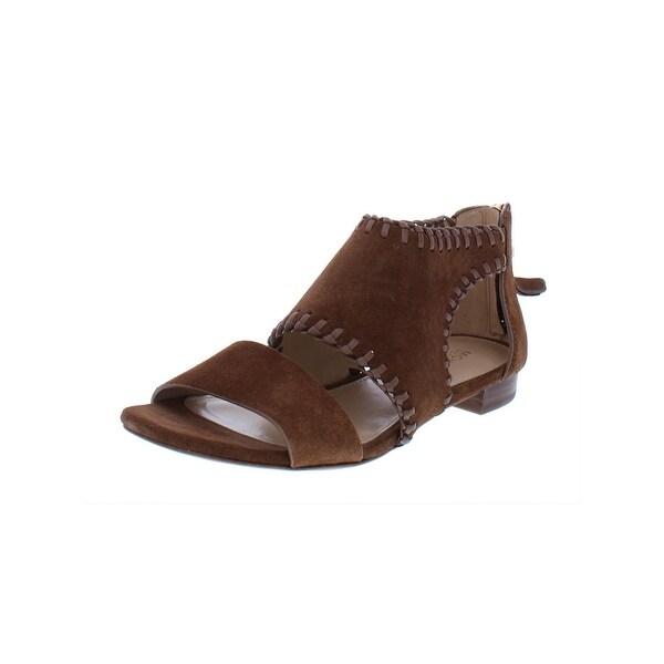 590acf1fb0dc9 MICHAEL Michael Kors Womens Broderick Flat Sandals Suede Cut-Out - 6.5  Medium (B