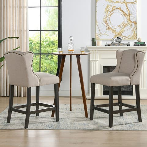 Jennifer Taylor Home Sam Wingback 27-inch Counter-Height Armless Barstool