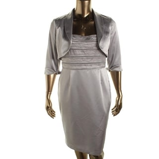 Adrianna Papell Womens Sleeveless 2PC Dress With Cardigan - 16
