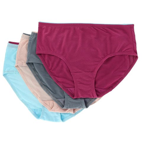 Fruit of the Loom Women's Breathable Low Rise Briefs Underwear (4 Pair Pack)