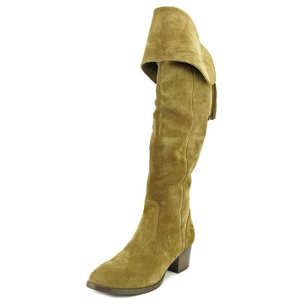 e213976bbf7 Frye Clara Tassel Over the Knee Women Round Toe Suede Over the Knee Boot