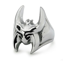 Stainless Steel Fangs Ring 26x17mm