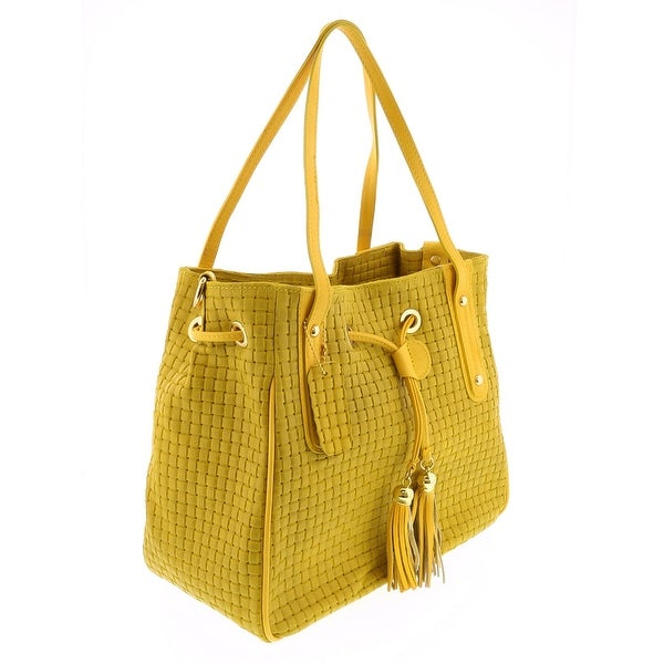 HS 2025 GL AGAPE Yellow Leather Tote/Shopper Bags