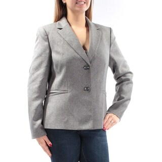 LE SUIT Womens New 1125 Gray Button Down Wear To Work Jacket 14 B+B
