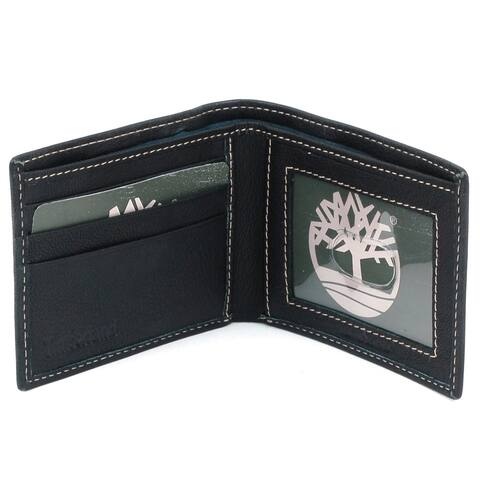 Timberland Men's Genuine Leather Slim Bifold Wallet - One Size
