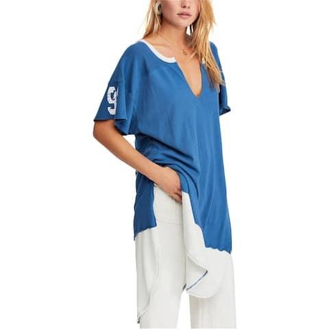 Free People Womens Varsity Tunic Graphic T-Shirt