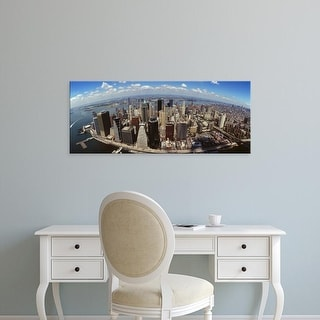 Easy Art Prints Panoramic Images's 'Aerial view of buildings in a city, New York City, New York State, USA' Canvas Art