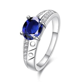 Petite Mock Sapphire Laser Cut Ingrain Ring
