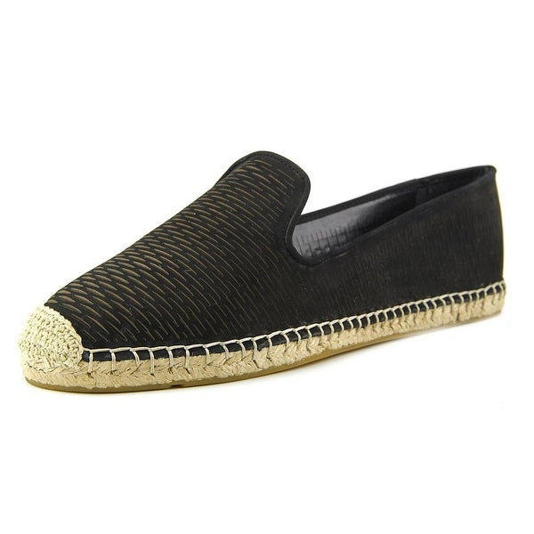 Vince Camuto Delina Women Round Toe Leather Black Espadrille