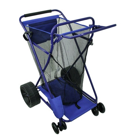Wide Wheel Deluxe Beach Cargo Cart 75 Pound Capacity - 37.5 X 31 X 25.25 inches