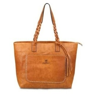 Vintage-Style Tote Leather Handbag