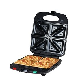 ZZ SM431-B 4 in 1 Sandwich Maker with Removable Non-Stick Plate 1400W, Black