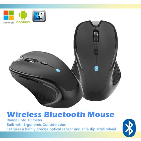 AGPtek Wireless Bluetooth Mouse Optical 2400 DPI for Mac Macbook PC Laptop Android - M