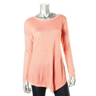 Two by Vince Camuto Womens Knit Marled Pullover Sweater