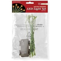 National Tree  15 Bulb Warm White Battery Operated LED Lights in Pol