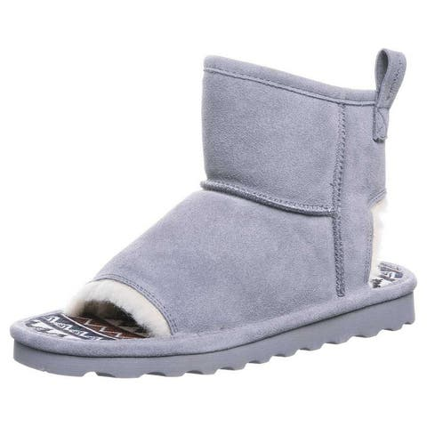 Bearpaw Casual Boots Womens Molly Pull On Rubber Sole Open Toe