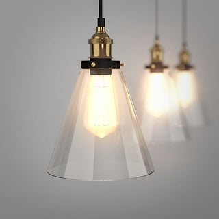 Gymax Vintage Style Edison Ceiling Pendant Gl Hanging Light 1 Bulb As Pic Ping The Best Deals On