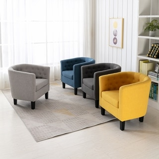 Link to Corvus Oxonia Tufted Fabric Club Chair Similar Items in Living Room Chairs
