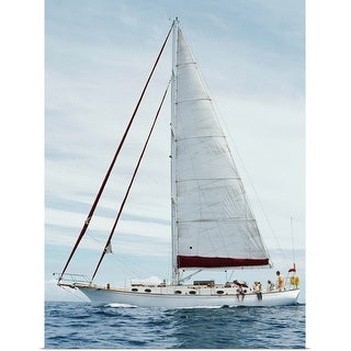 """""""Sailboat on water"""" Poster Print"""