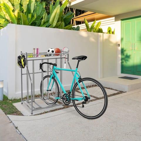 Bike Storage Racks Round Tube Version 4 Hooks 1 Detachable Long Frame